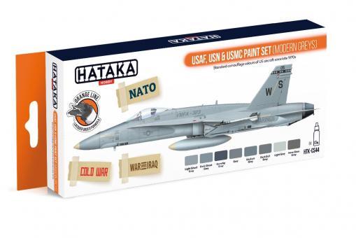 "Farbset (Orange) ""USAF, USN & USMC"" (moderne Grautöne)"