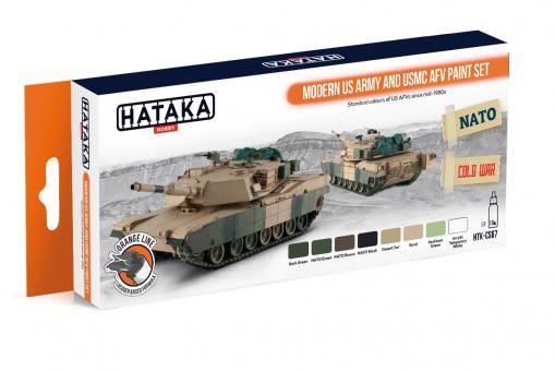 Farbset (Orange Serie) US Armee und USMC Fahrzeuge