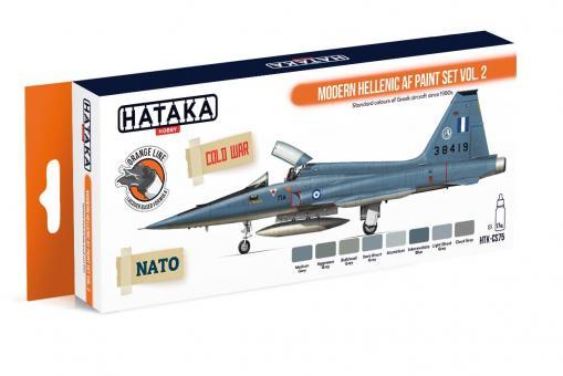 Farbset (Orange Serie) Moderne Griechische Luftwaffe, Teil 2
