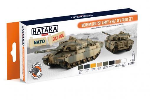 Farbset (Orange Serie) Moderne britische Armee & Air-Force Fahrzeuge und Panzer
