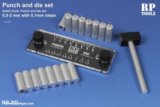 Punch and die tool set 0,5 - 2mm Rivets maker