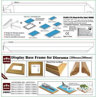 Rahmenleisten für Dioramen (20x20)