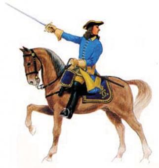 Prince August: Gießform: Offizier zu Pferd, 1700 bis 1800