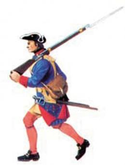 Musketeer rifle over shoulder