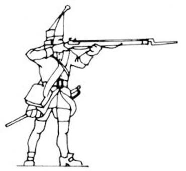 Grenadier kneeling firing