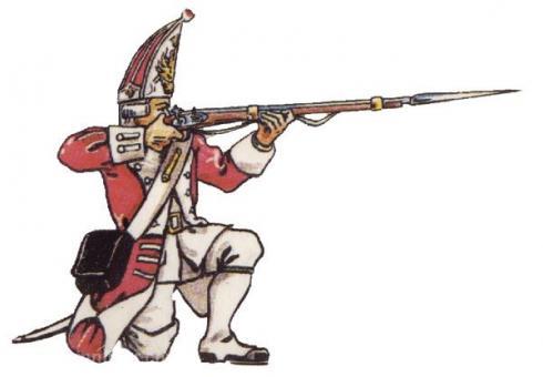 Grenadier standing firing