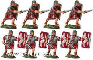 8 Legionäre mit Gladius (Schwert)