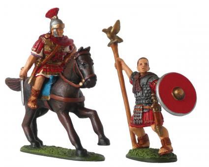 Legions-Kommandant und Aquilifer