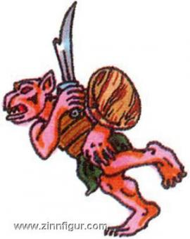 Prince August: Mould: Goblin with sword and shield