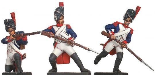 Kaisergarde, Grenadiere angreifend um 1805