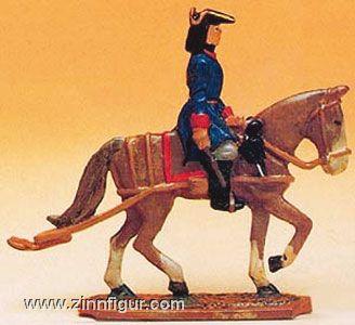 Diverse Hersteller: Mould: Artillery draught horse with rider, 1712 bis 1786