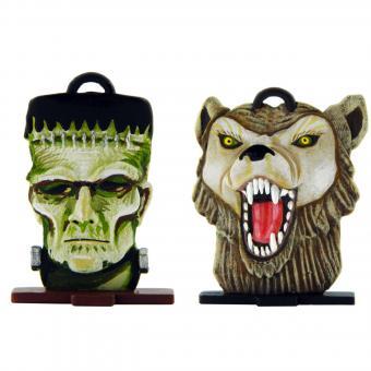 Büste: Frankenstein und Werwolf