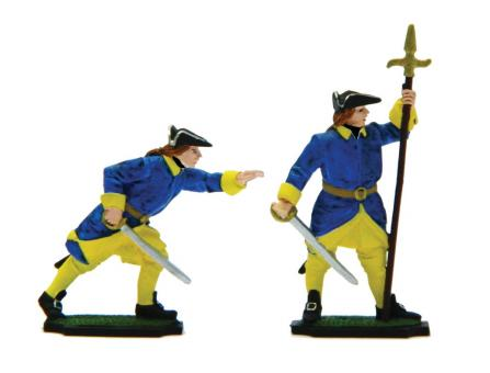 Infanterie: Offizier und Unteroffizier