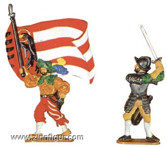 Colourbearer and Warrior with Sword