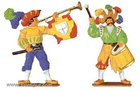 Landsknecht Drummer and Trumpeter