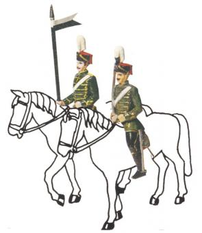 Hussar Officer and Trooper (without Horses)