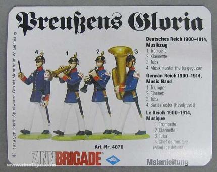 Gießform: Trompeter, Klarinette, Tubaspieler