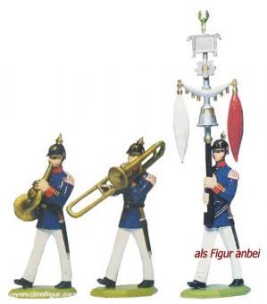 3 Musiciens: French Horn, Trombone, Lyre