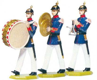 3 Musiciens: Drum, Cymbals, Triangle