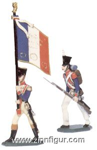 Lineinfantry Colourbearer and Private
