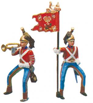 Dragoon Trumpeter and Standardbearer