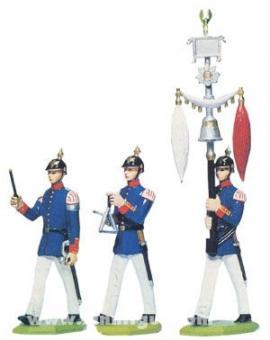 Drei Fertigfiguren zum Musikzug