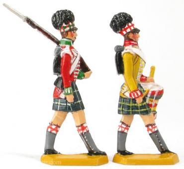 Zwei Infanteristen im Marsch: Mannschaft  und Trommler