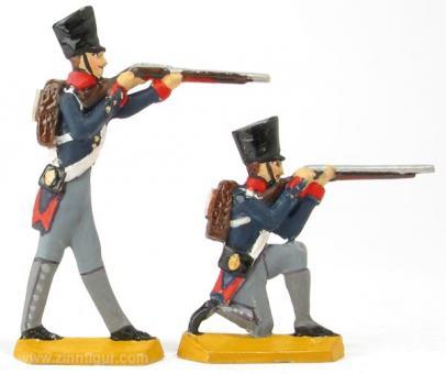 Zwei Infanteristen: schießend
