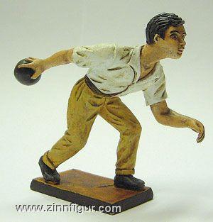 Dekorationsfigur: Bowlingspieler / Kegler