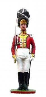 Sächsischer Grenadier-Offizier der Leibgarde - Parade