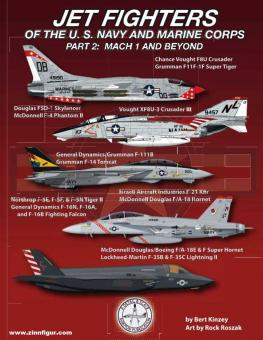 Kinzey, Bert/Roszak, Rock: Jet Fighters of the U.S. Navy and Marine Corps. Teil 2: Mach 1 and Beyond