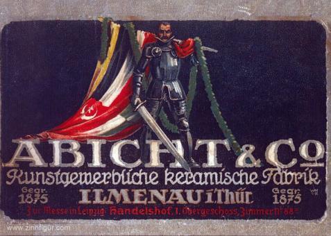 Abicht & Co. Patriotische Figuren aus echt Terrakotta