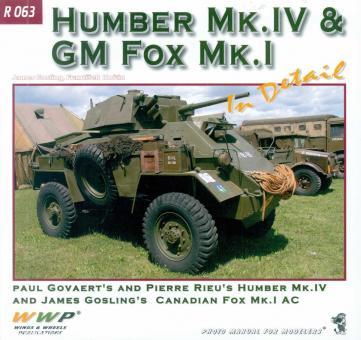 Gosling, James/Korán, Frantisek: Humber & Fox AC in Detail. Paul Govaert's and Pierre Rieu's Humber Mk. IV and James Gosling's Canadian GM Fox Mk. I