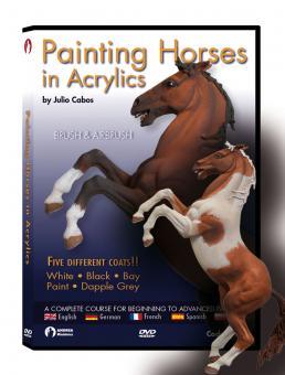 Cabos, J.: Painting horses in Acrylics + Pferdebausatz