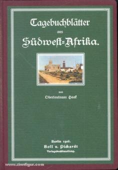 Haak, W.: Tagebuch-Blätter aus Südwest-Afrika