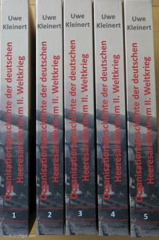 Kleinert, Uwe: Organisationsgeschichte der deutschen Heeresartillerie im II. Weltkrieg. 5 Bände
