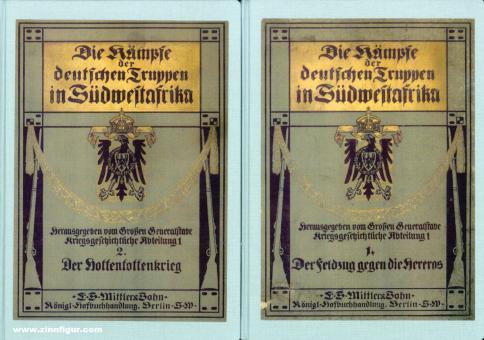 Die Kämpfe der deutschen Truppen in Südwestafrika. 2 Bände