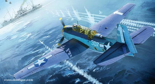 """TBM-3 Avenger """"USS Bunker Hill"""""""