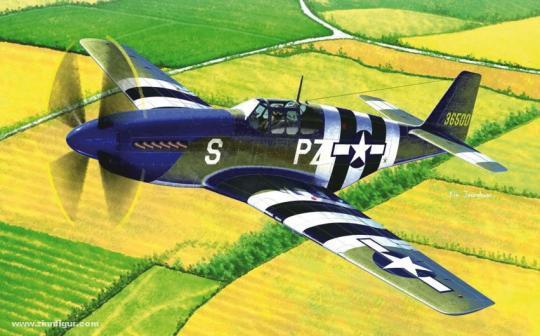 "P-51B Mustang USAF ""Landung in der Normandie 1944"""