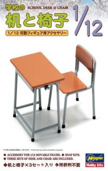 Schultisch und Stuhl