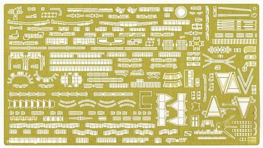 IJN Battleship Nagato Detail Up Etching Parts Basic B