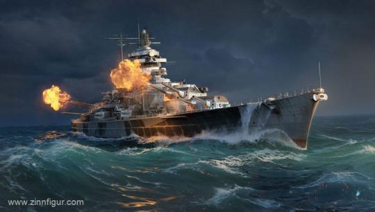 """Schlachtschiff Tirpitz """"World of Warships"""""""