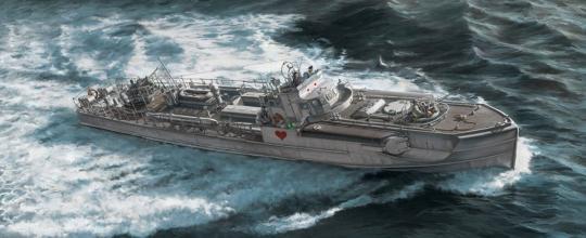 Schnellboot S-38 mit 4,0 cm Flak 28