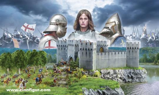 Belagerung einer Burg - 100-jähriger-Krieg