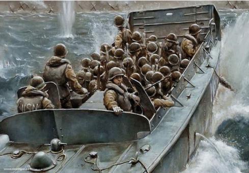 US Infanterie an Bord