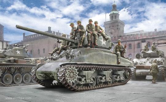 M4A1 Sherman mit US Infanteristen