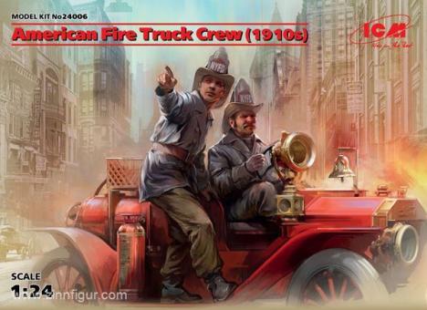 US Feuerwehrleute für Feuerwehrauto