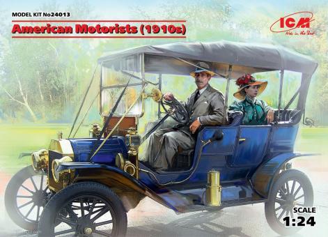 Amerikanische Autofahrer um 1910