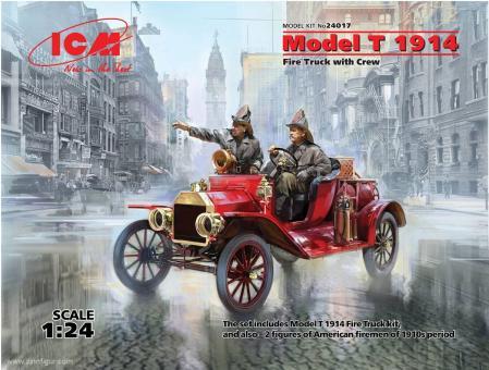 Model T 1914 Feuerwehrwagen mit Feuerwehrleuten