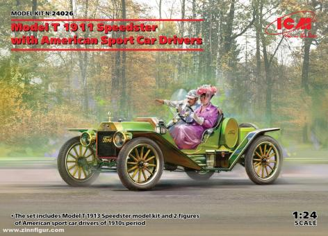 Model T 1913 Speedster with Amircan Sport Car Drivers